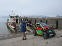 Transporting our trial rural Twizy from Eigg to Knoydart