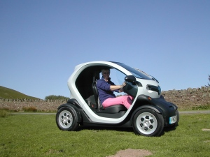 Twizy at Tor-y-foel
