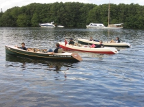 Winsome pedal boats on Salhouse Broad 2006