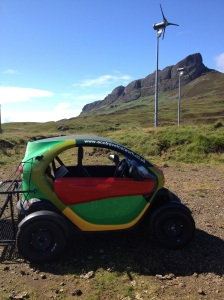 Toro Twizy powered renewably on Eigg